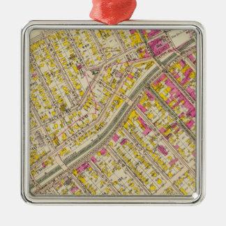 Mt Vernon wards 2-5, New York Metal Ornament