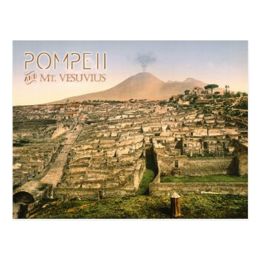 HTMimages Mt. Vesuvius and the ruins of Pompeii in Italy Postcard