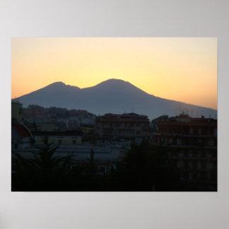 Mt. Vesuvius Sunrise Print