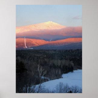 Mt Washington at Sunset Posters