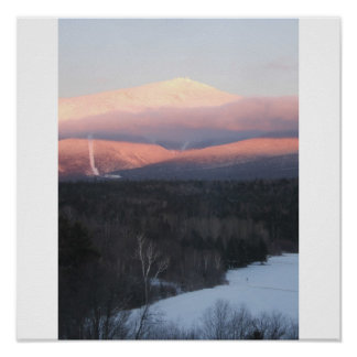 Mt Washington at sunset Poster