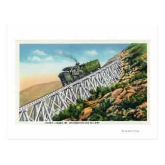 Mt Washington Cog Railway, Jacob's Ladder Postcard