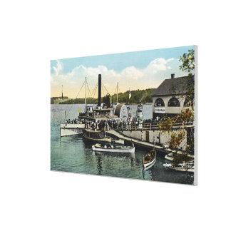 Mt. Washington, Gov. Endicott Steamers Docked Canvas Print