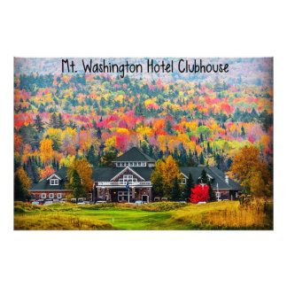 Mt. Washington Hotel Clubhouse in Autumn Photo Art