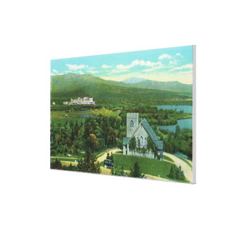 Mt Washington Hotel Stickney Chapel View Stretched Canvas Prints