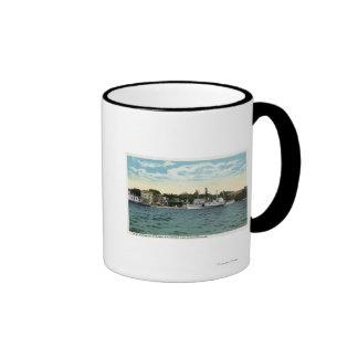 Mt. Washington Steamer at Wolfeboro Wharf Ringer Coffee Mug