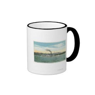 Mt. Washington Steamer, Ossipee Range View Ringer Coffee Mug