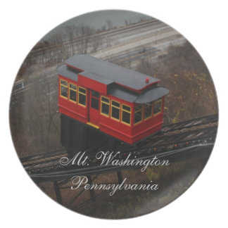 Mt. Washington trolly Melamine Plate