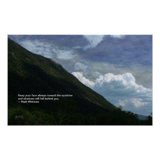 Mt Webster: Whitman quote poster