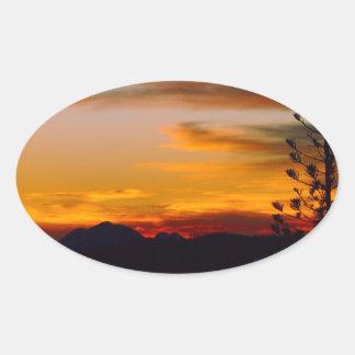 Mt Wheeler sunset oval sticker