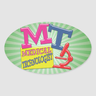 MT WHIMSICAL FUN ACRONYM LETTERS LABORATORY OVAL STICKER