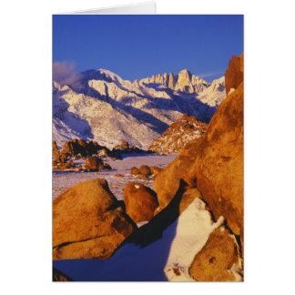 Mt. Whitney and Lone Pine peak Card