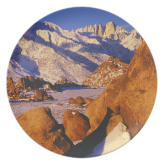 Mt. Whitney and Lone Pine peak Melamine Plate