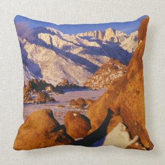 Mt. Whitney and Lone Pine peak Throw Pillow