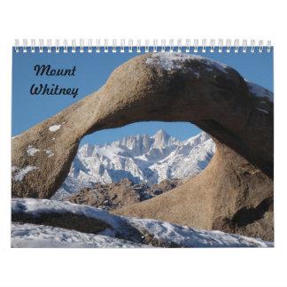 Mt. Whitney Calendar