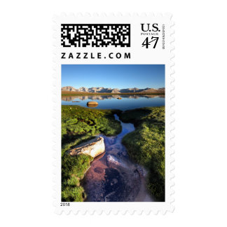 Mt Whitney from Bighorn Plateau on John Muir Trail Postage