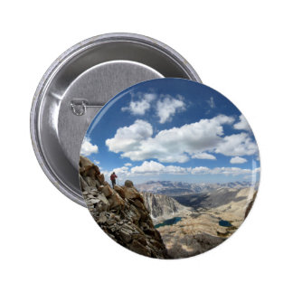 Mt Whitney Trail Over Hitchcock and Guitar lakes 2 Pinback Button