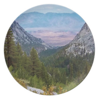 Mt. Whitney Trail Plate- by Fern Savannah Melamine Plate