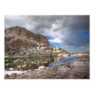 Mt Whitney Trail - Wotans Throne Over Trail Camp Photo Print
