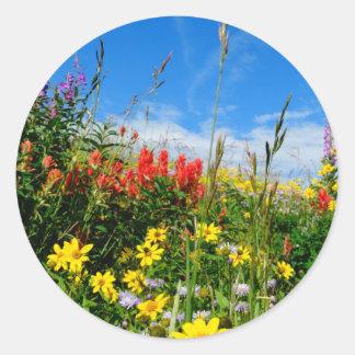 Mt. Wildflowers Classic Round Sticker