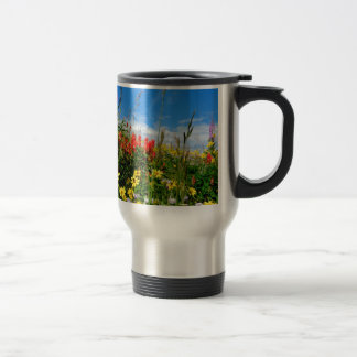 Mt. Wildflowers 15 Oz Stainless Steel Travel Mug