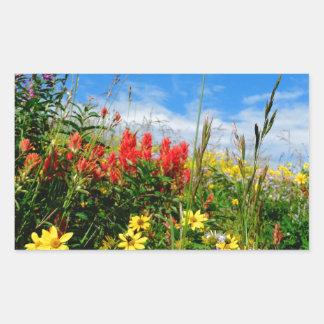Mt. Wildflowers Rectangular Sticker