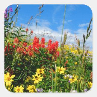 Mt. Wildflowers Square Sticker