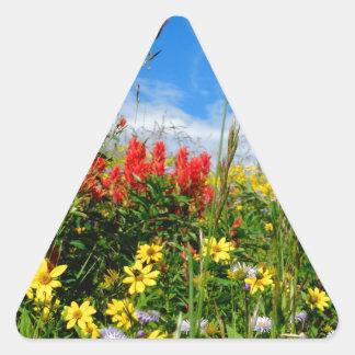 Mt. Wildflowers Triangle Sticker