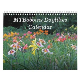 MTBobbins Daylilies Calendar #1