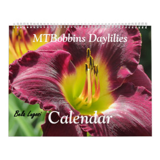 MTBobbins Daylilies - With Names - Large Calendar
