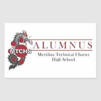 MTCHS Almnus 1 Rectangular Sticker