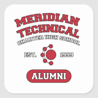MTCHS Alumni College Style Square Sticker