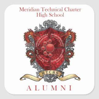 MTCHS Alumni Crest 1 Square Sticker