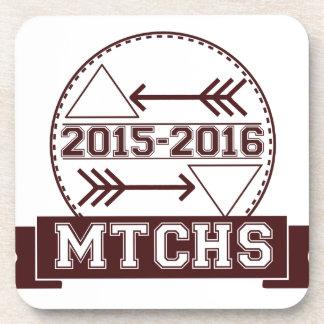 MTCHS Hipster Badge Beverage Coaster