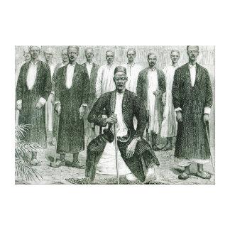 Mtesa, el emperador de Uganda y otros jefes Impresion En Lona
