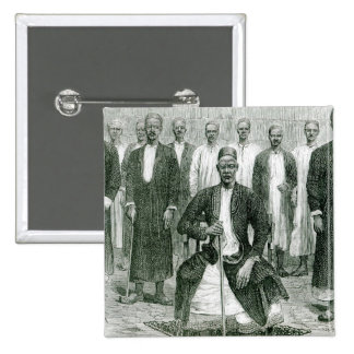 Mtesa,the Emperor of Uganda and other chiefs 2 Inch Square Button