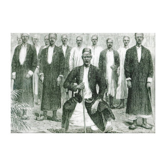 Mtesa,the Emperor of Uganda and other chiefs Canvas Print