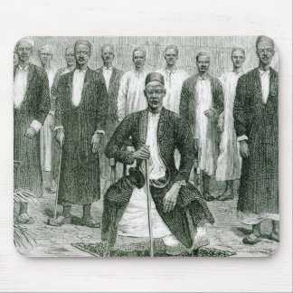 Mtesa,the Emperor of Uganda and other chiefs Mouse Pad