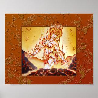 MtG Fire Elemental print