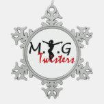 MTG Twisters Pewter Snowflake Ornament