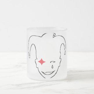 MTJ blanco, rojo, y negro Taza Cristal Mate