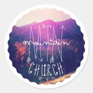 MTN Church Classic Round Sticker