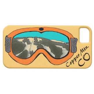 Mtn de cobre. Iphone anaranjado 5 de las gafas de iPhone 5 Carcasa