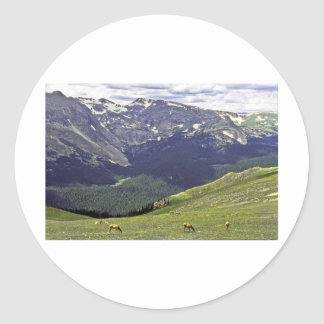 Mtn rocoso NP CO Pegatina Redonda
