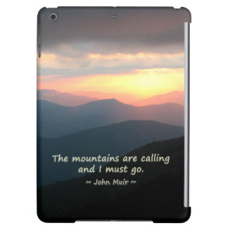 Mtn Sunset: Mountains Calling Muir Template Cover For iPad Air