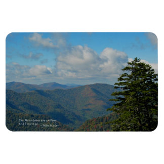 Mtns ahumado: Mtns está llamando… John Muir Iman Rectangular