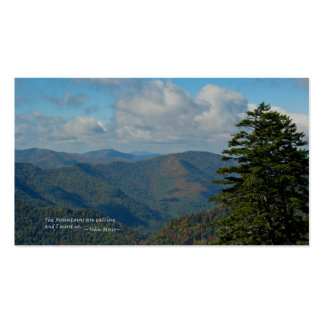 Mtns ahumado: Mtns está llamando… John Muir Tarjetas De Visita