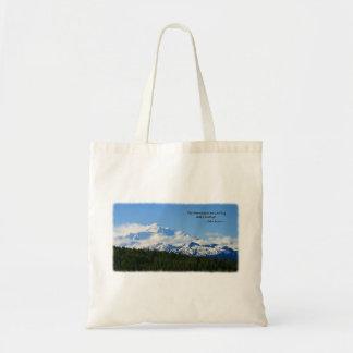 Mtns are calling/Denali-J Muir Tote Bags
