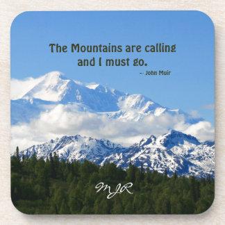 Mtns are calling / Denali - J Muir Beverage Coaster