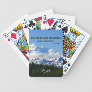 Mtns are calling / Denali - J Muir Bicycle Playing Cards